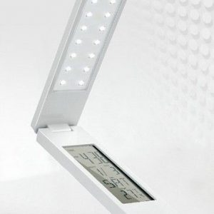 Foldable LED Table lamp with Calendar Thermometre etc