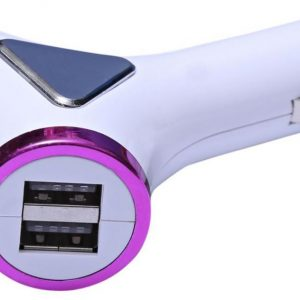 2F-151-2 4 USB Ports Car Charger, Pink