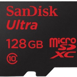 Sandisk Ultra 128 GB Class 10 UHS-I Micro SDXC Card with Adapter - SDSQUNC-128G-GN6MA