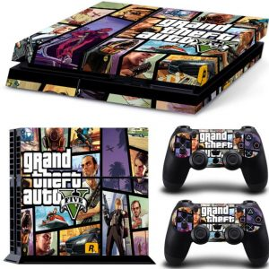 Grand Theft Auto V Skin Sticker For PlayStation 4 PS4 Console 2Pcs Controller Cover Decals[PS0018]