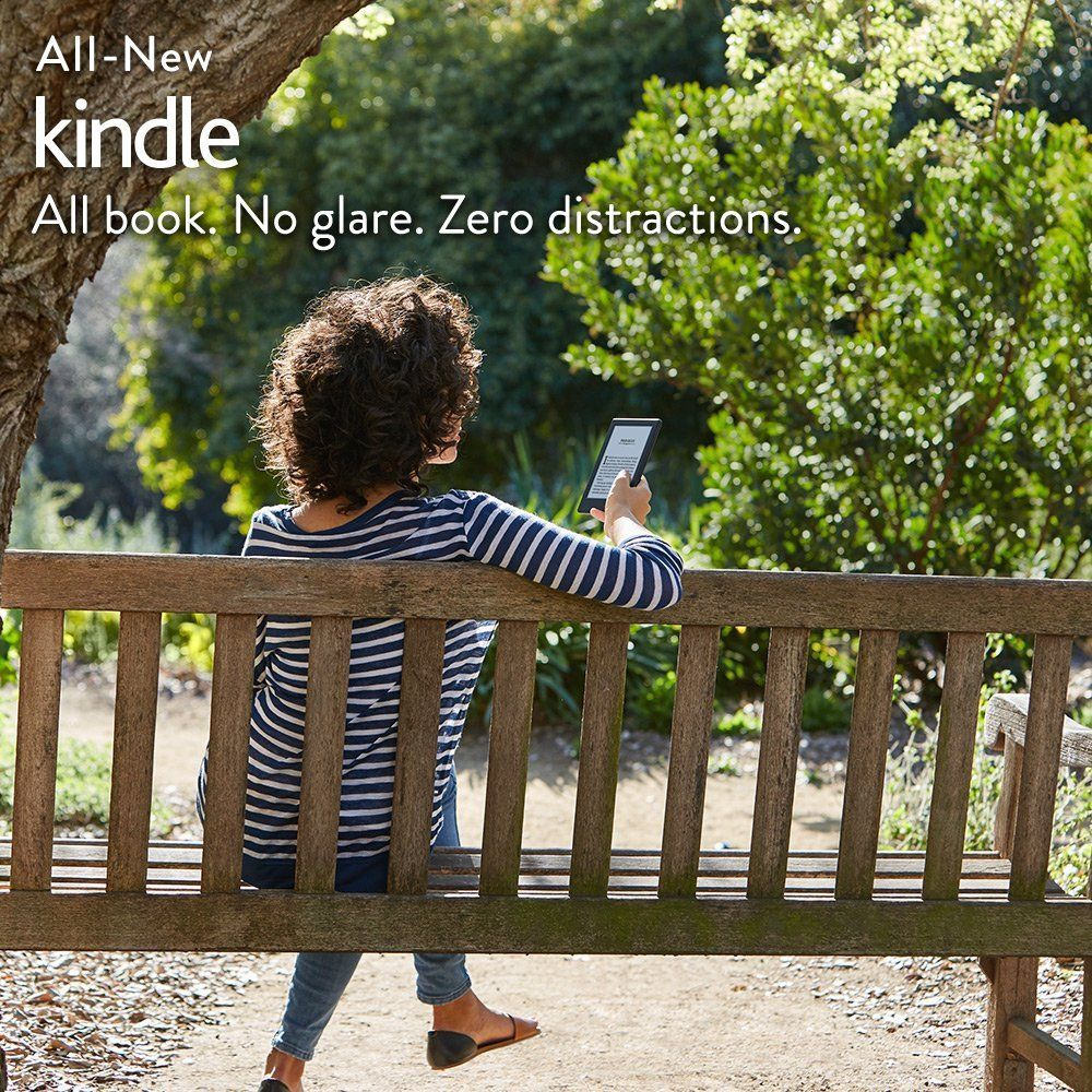 All-New Kindle E-reader - Black, 6 inch Touchscreen Display, Wi-Fi -Without special offers