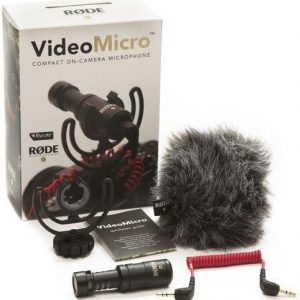 1 X Rode VIDEOMICRO microphone for Canon and Nikon etc. cameras