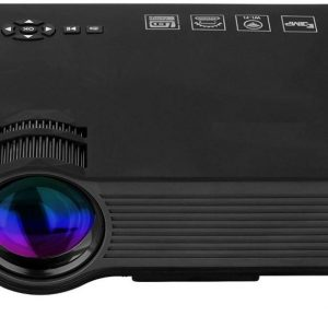 Cyber UC46HD Wireless WiFi Full HD LED Mini Projector, Black