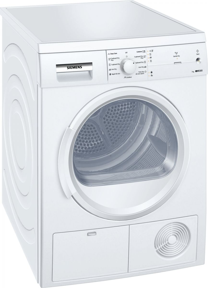 Siemens 7 Kg Condenser Dryer, White - WT46E101GC