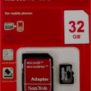 SANDISK 32GB Mirco SD(HC)Memory Card SD slot adapter