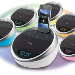 iA17: App-enhanced Color Changing Stereo FM & Alarm Clock Radio for iPhone/ iPod