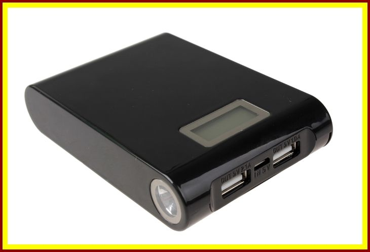 12000 mAh Digital Display, Dual USB Backup Battery Power bank for iPhone, Samsung, HTC, Nokia, PDA, Camera, and More