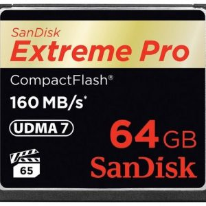 Sandisk 64GB CF Extreme Pro 160 MB/s Extreme Pro CompactFlash Card
