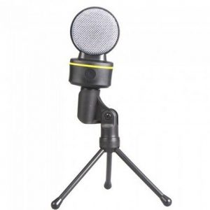 [C1719]3.5mm Wired Condenser Microphone Mic with Tripod for PC Laptop Computer Skype MSN Karaoke