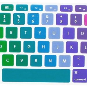 Rainbow Gradient Series Silicone Keyboard Cover Skin for MacBook Air 13, MacBook Pro 13 15 17