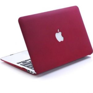 Frost Matte Surface Rubberized Hard Shell Case Cover For MacBook Pro 15 Inch Wine Red