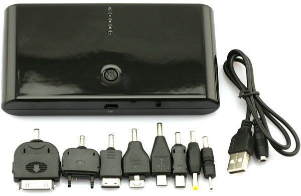 20000 mAh Power Bank Portable Charger with Adapters Mobile Phones iPhone iPad Samsung HTC Nokia