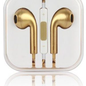 Earphones Remote & Mic for Apple iPhone 5S, 6 and 6 plus, iPod and other all Mobile Phones (Gold)