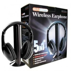 Universal 5 in 1 Wireless Headphone for PC Laptop TV MP3 CD DVD Players