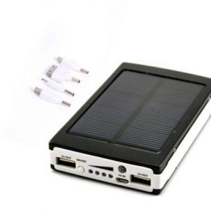 30000mAh Solar Power Bank Backup Battery Charger For Mobile Smartphones Digital Camera