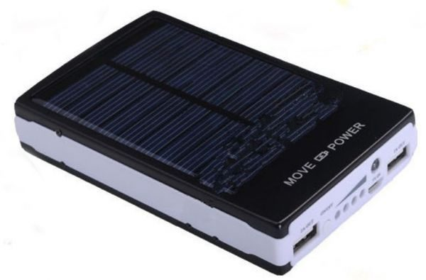 10000mAh Solar Power Bank Backup Battery Charger GPS Mobile HTC Samsung S3 S4 Nokia HTC LG