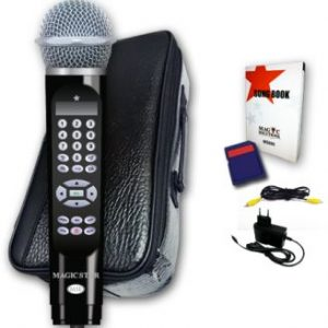 Magic Star MS800 Karaoke Microphone with More Than 8,000 Songs in 32GB SD Card - Black