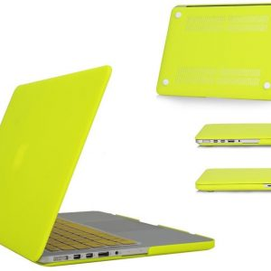 Matte Frosted Rubberized Hard shell Notebook Laptop Case Cover MacBook Pro 13 Inch - Leme Yellow