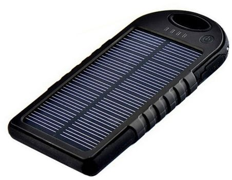12000mah Margoun Solar power bank charger for Apple iphone 3GS, 4S, 5S, 6 and 6 plus - Black