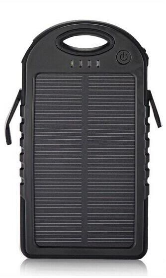12000 mah Margoun Solar power bank charger Blackberry Passport, Classic, q10, q5, Z30, Z10 Black