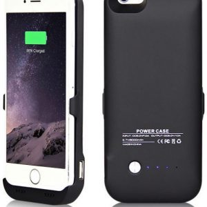 3500mAh External Battery Backup Charger Cover Power Bank For 4.7 iPhone 6 Black