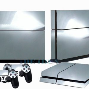 Silver Mirror Chrome Playstation 4 Glossy Vinyl Skin Sticker Decal for PS4