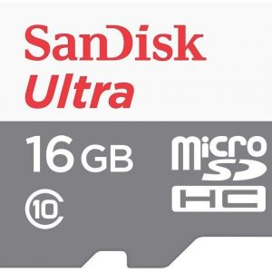 Sandisk Ultra 16 GB Class 10 UHS-I Micro SDHC Card - SDSQUNB-016G-GN3MA